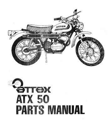 Attex Coleman ATX 50 mini bike Parts Manual