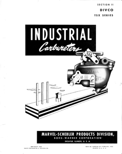 Divco Carburetor Parts Manual Marvel Schebler