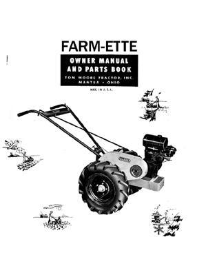 Farm-Ette 2 Wheel Walking Tractor Manual