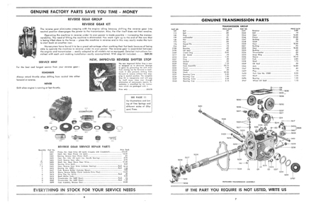Graham Paige Kaiser Frazer Rototiller parts manual