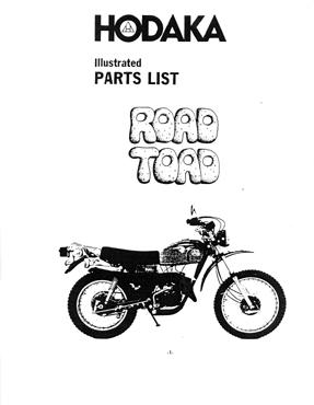 Hodaka Road Toad motorcycle Parts Manual