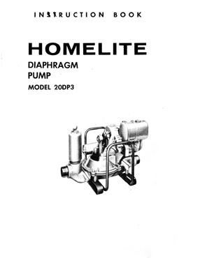 Homelite Model 20DP3 Diaphragm Pump Repair Manual