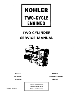 Kohler 2 cycle AS AX series engine Service Manual