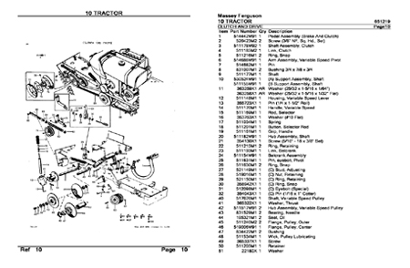 Massey Ferguson 10 Garden Tractor parts manual