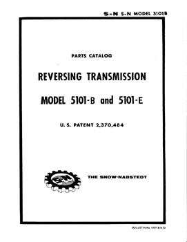 Snow-Nabstedt model 5101 transmission parts manual