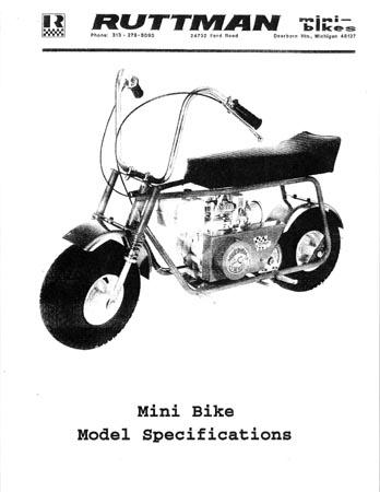 Ruttman Mini Bike : ruttman, Ruttman, Specifications, Models