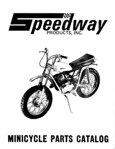 1972 Speedway mini bike parts manual Super Spyder, Green