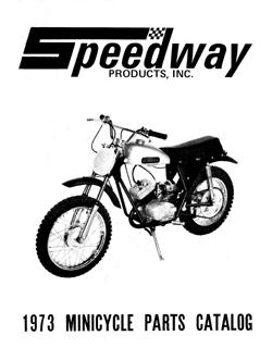 1973 Speedway mini bike parts manual Super Spyder, Enduro