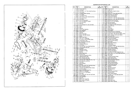 Speedway Superstar mini bike parts manual