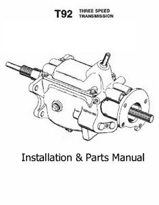 T92 3 Speed Transmission Installation Amp Parts Manual