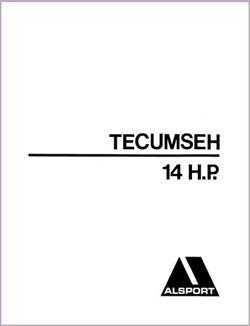 Alsport Tri Sport Tecumseh 14 HP engine Dealer Parts Manual
