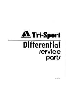 Alsport Tri Sport Trike rear axle differential parts