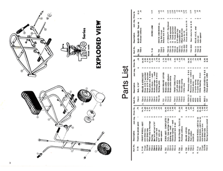 Steens Taco 22 & 44 Series Mini Bike Parts Manual