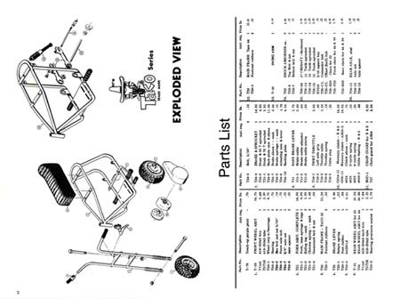 Steens Taco 22 & 44 Series Mini Bike Parts Manual