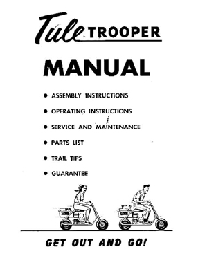 Tule Trooper Trail Bike Owners Manual w/ Parts List