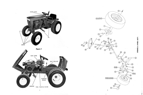Wheel Horse Commando 8 Tractor Owners Manual w/ Parts List
