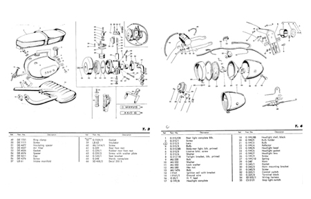 Wards Riverside 350S Model FFA-14002 Scooter Parts Manual