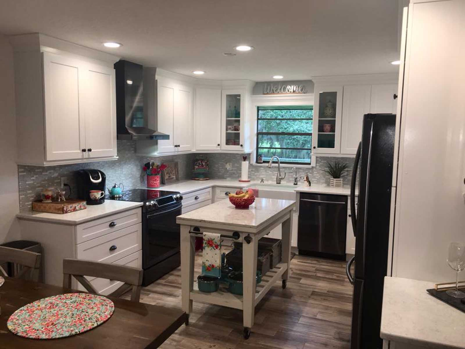 Beautiful coastalfarmhouse kitchen  RTA Cabinets  More LLC