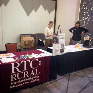 RTC:Rural vendor table at the 2018 APRIL conference.