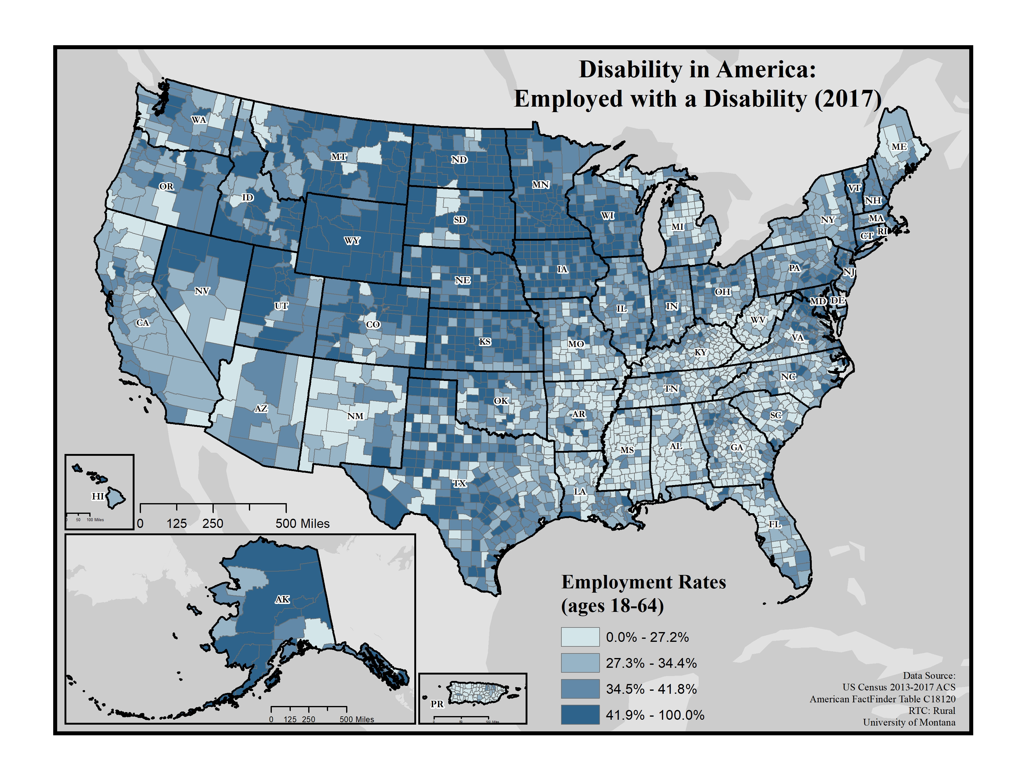 maps of disability and