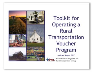 "cover of the document ""toolkit for operating a rural transportation voucher program"""
