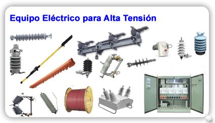 Equipo y material eléctrico para alta tensión