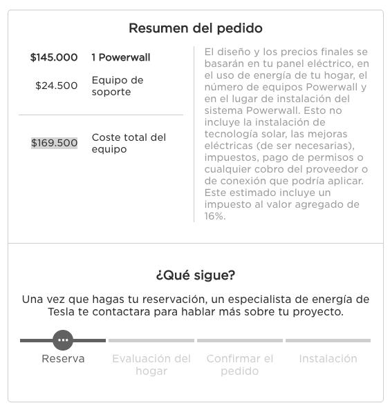 VENTA DE BATERÍA SOLAR POWERWALL MÉXICO