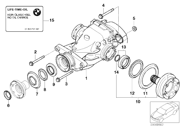 3.63 Differential for E90/1/2/3 (not 335)