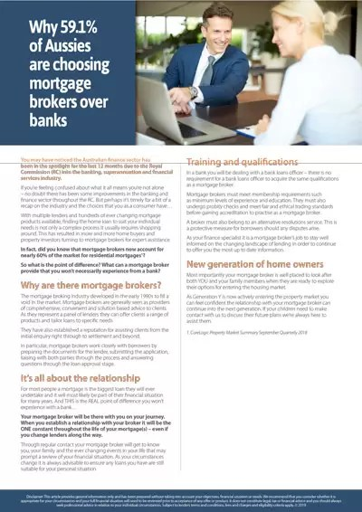 Why Aussies are choosing mortgage brokers over banks
