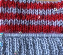 grey welt, red and grey