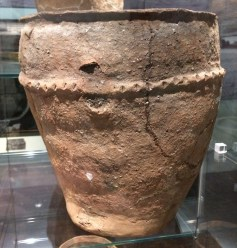 Contrast: prehistoric potters weren't necessarily interested in symmetry, and the coarser ware looks hasty.