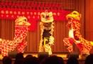 Ein Löwentanz darf zum chinesischen Neujahrsfest natürlich nicht fehlen