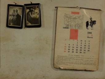 Calendrier de 1995 et vieilles photos
