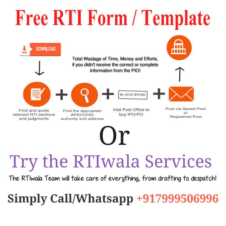 RTIwala Free RTI Form RTI Template English PDF First Appeal Template