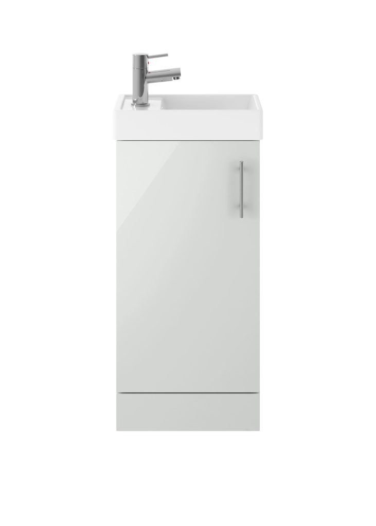 Minimalist Grey Mist Floor Standing Unit And Basin