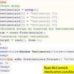 Display Random Testimonials in PHP
