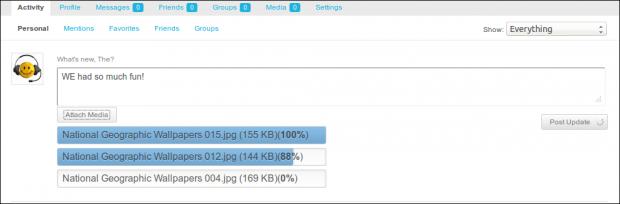 BuddyPress Media 2.7 with Activity Uploader