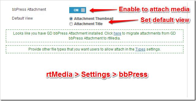 rtMedia-PRO bbPress Settings