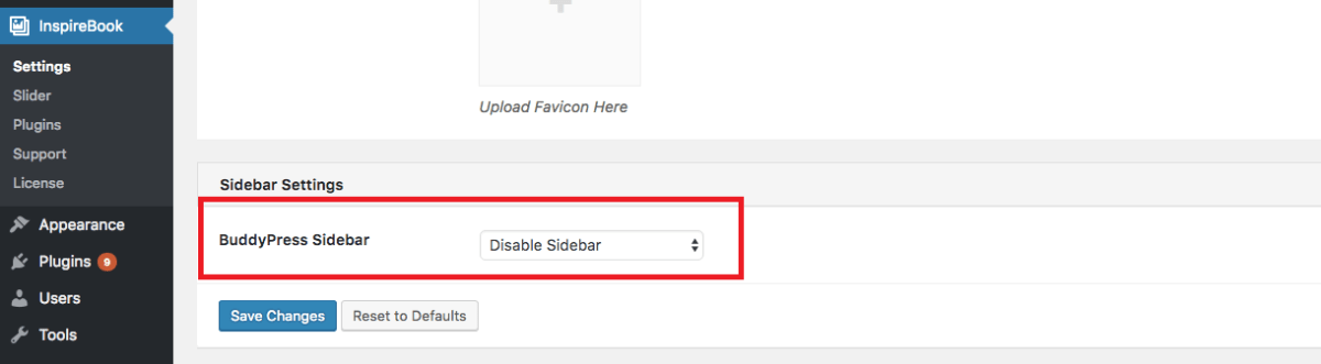 Disable sidebar in WordPress