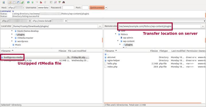 FTP install screenshot