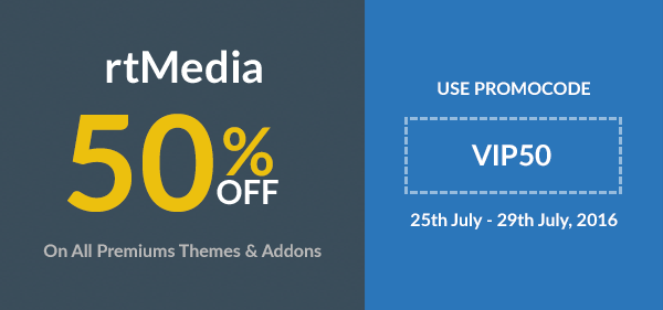 50% off on all products till 29/07/2016