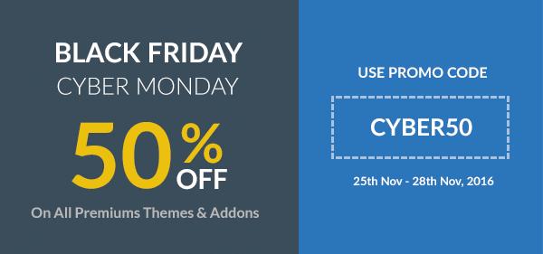 Black Friday Cyber Monday Sale rtMedia CYBER50