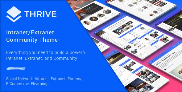 Thrive - The Best WordPress Intranet/Extranet BuddyPress Community Theme