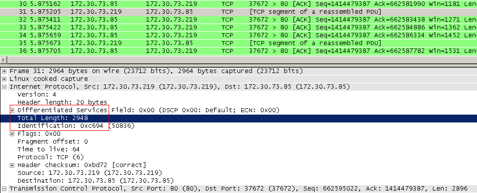 Generic/TCP Segmentation Offload and Wireshark | RtoDto net