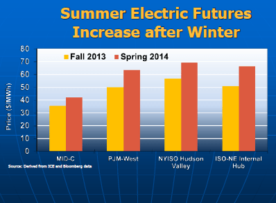Summer Electric Futures (Source: FERC, May 2014)
