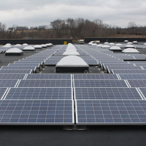 Solar panels line the roof top of Walmart 3784 in Franklin, Ohio. (Source: Wal-Mart)
