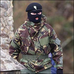 [Picture of IRA paramilitary]