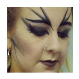 [Picture of a punk girl's makeup]