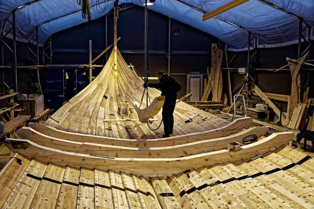 Самый большой корабль викингов строится в Норвегии