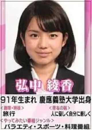 弘中綾香,アナウンサー,テレビ朝日,若い頃,可愛い,入社当時
